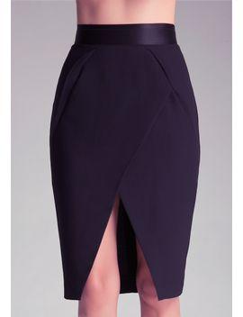 britney-elastic-waist-skirt by bebe