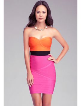 bandage-colorblock-dress by bebe