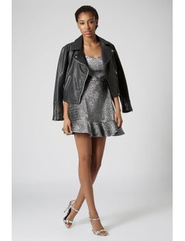 frill-hem-bandeau-dress by topshop
