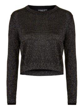 petite-metallic-lurex-sweater by topshop