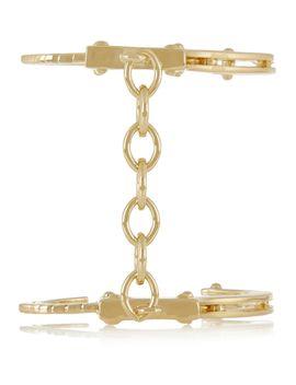 handcuff-gold-plated-cuff by jennifer-fisher