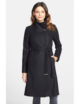 nevia-stand-collar-belted-wrap-coat by ted-baker-london