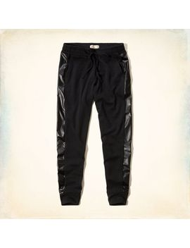 hollister-fleece-&-faux-leather-jogger-pants by hollister