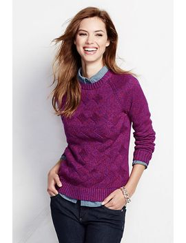 womens-drifter-texture-marl-pullover-sweater by lands-end