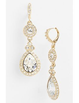 pavé-double-drop-earrings by givenchy