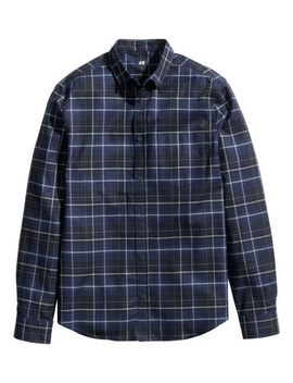 plaid-cotton-shirt by h&m