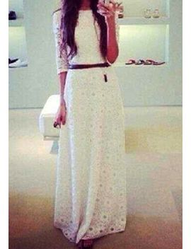 floral-maxi-lace-dress by lookbook-store