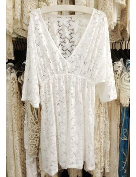 v-neckline-cover-up---white by lookbook-store