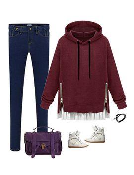 port-zipped-pullover-hoodie by lookbook-store
