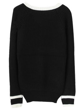 v-neckline-sweaters---black by lookbook-store