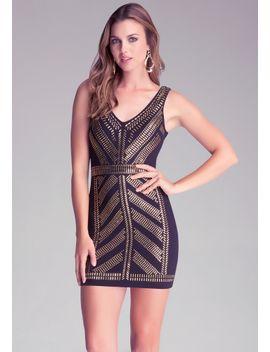 v-neck-embellished-dress by bebe