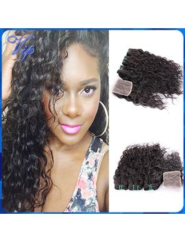 brazilian-virgin-hair-with-closure-4pcs-brazillian-lace-closure-with-hair-bundles-ms-lula-brazilian-wet-and-wavy-kbl-human-hair by ali-express