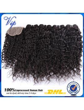 new-star-hair-brazilian-lace-closure-with-hair-bundles-4pcs-brazilian-kinky-curly-virgin-hair-with-4x4-free-part-lace-closure by ali-express