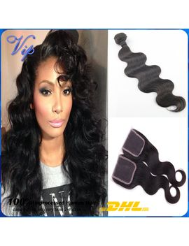 grace-hair-products-peruvian-virgin-hair-with-closure-4pcs-peruvian-body-wave-lace-closure-with-hair-bundle-peruvian-virgin-hair by ali-express