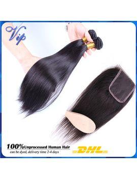 silky-straight-brazilian-virgin-hair-unprocessed-brazilian-human-hair-weave-brazilian-straight-lace-closure-with-hair-bundles by ali-express