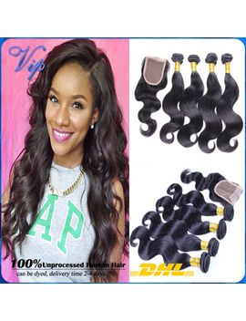 brazilian-virgin-hair-body-wave-ms-lula-brazilian-virgin-hair-with-closure-4pcs-brazilian-lace-closure-with-human-hair-bundles by ali-express
