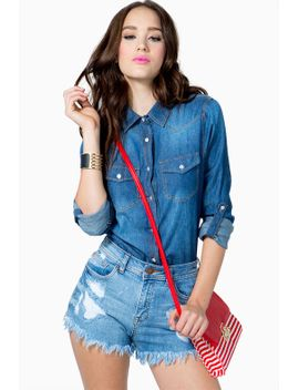 must-have-rolled-sleeve-denim-shirt by agaci