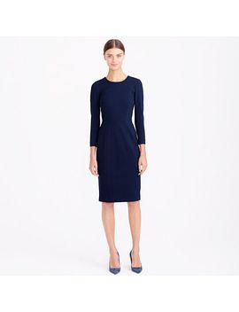 petite-structured-knit-zip-dress by jcrew