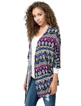 painted-aztec-cardigan by agaci