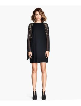 rhinestone-trimmed-dress by h&m