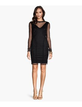 beaded-mesh-dress by h&m