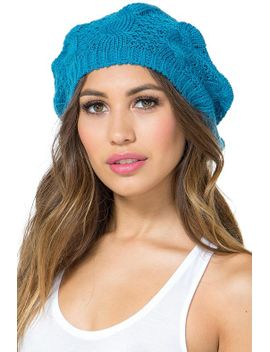 cable-knit-medium-weight-beret by agaci