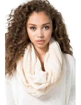 loose-weave-lurex-fringe-infinity-scarf by agaci