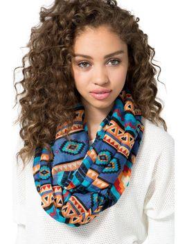 navajo-blanket-printed-infinity-scarf by agaci