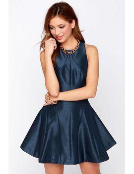 keepsake-fallen-navy-blue-dress by keepsake