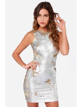 dress-the-population-kim-gold-and-silver-sequin-dress by dress-the-population