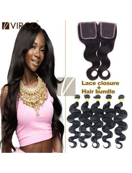 on-sale-brazilian-virgin-hair-with-closure-body-wave-ms-lula-hair-1pc-top-lace-closure-with-3pcs-hair-bundles-unprocessed-human by ali-express