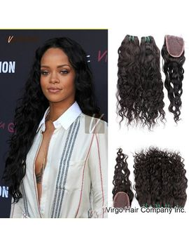 brazilian-virgin-hair-with-closure-water-wave-3pcs-brazilian-hair-bundles-and-lace-closure-rosa-hair-products-natural-human-hair by ali-express