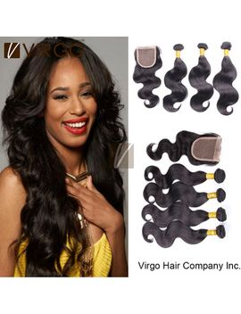lace-closure-with-bundles-brazilian-virgin-hair-weave-body-wave-3pcs-4pcs-with-1pc-lace-closure-brazilian-hair-weave-bundles by ali-express