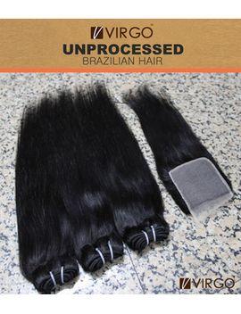 3-bundles-brazilian-virgin-hair-straight-human-hair-weave-with-1pcs-free-part-lace-closure-cheap-hair-bundles-with-closure-virgo by ali-express