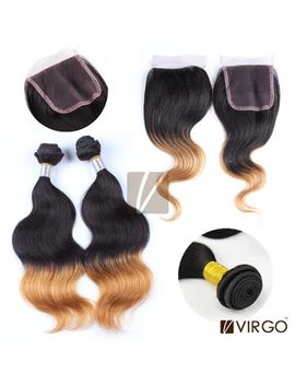 ombre-hair-extensions-body-wave-brazilian-virgin-hair-products-wavy-unprocessed-remy-human-hair-lace-closure-ombre-hair-weaves by ali-express