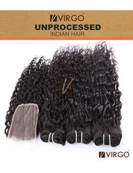indian-virgin-hair-weaves-with-closure-3-bundles-indian-curly-hair-with-1pcs-top-lace-closure-deep-wave-human-hair-extensions by ali-express