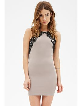 eyelash-lace-bodycon-dress by forever-21