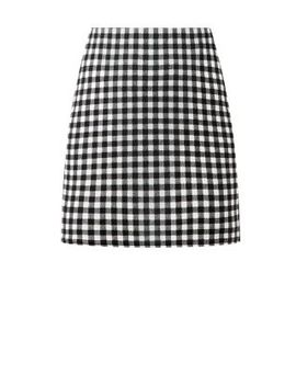 black-gingham-check-mini-skirt by new-look