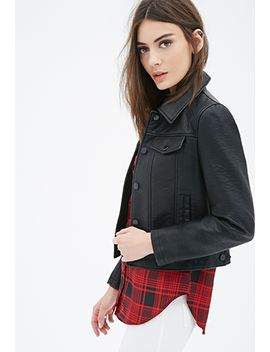 collared-faux-leather-jacket by forever-21