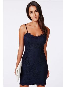 lianne-eyelash-lace-mini-dress-navy by missguided