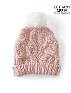 cable-knit-pom-hat by aeropostale