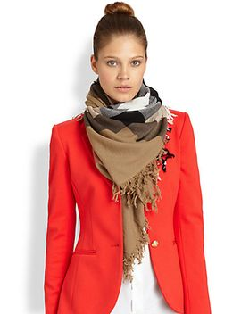 color-check-square-scarf by burberry