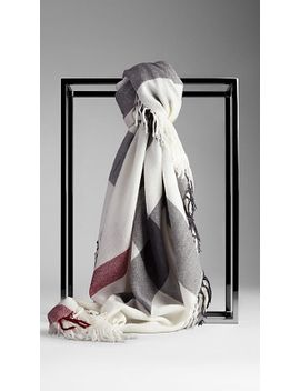 check-wool-square---large by burberry
