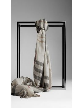 check-wool-silk-scarf by burberry