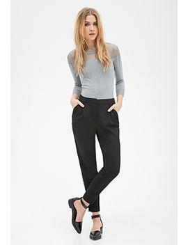 cuffed-pocket-woven-pants by forever-21