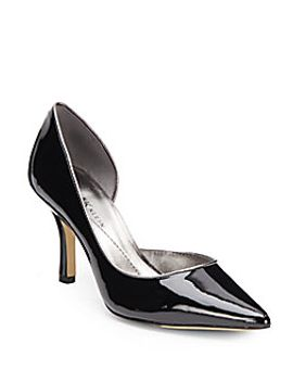 catherine-patent-dorsay-pumps by anne-klein