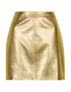 shiny-pu-mini-skirt by topshop