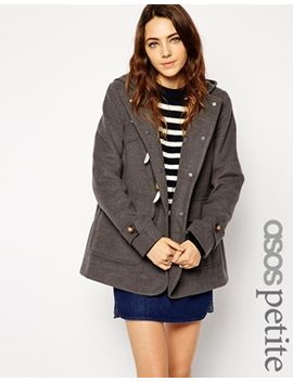 asos-petite-ultimate-hooded-duffle-coat by asos-petite