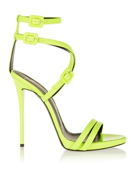neon-leather-sandals by giuseppe-zanotti