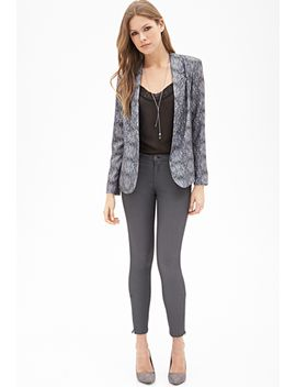 abstract-print-draped-blazer by forever-21
